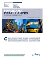 Panorama des défaillances en France par Coface